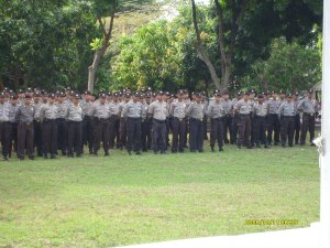 Anggota jajaran Res Kuningan yang terlibat Serpas Pam Pemilu Bupati/wakil Bupati Kuningan Th. 2008
