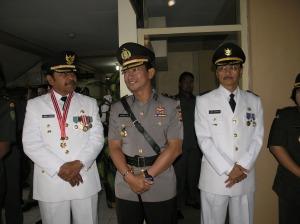 Kapolres Kuningan bersama Bupati/Wakil Bupati Kuningan terpilih