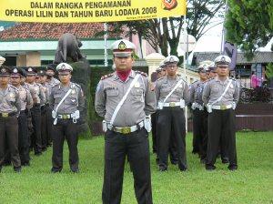 Peserta Gelar Pasukan dalam rangka Ops Lilin Lodaya-2008