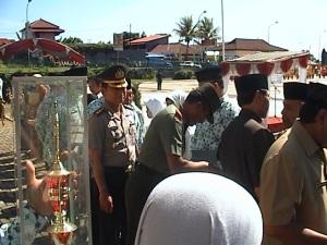 Bupati dan Wakil Bupati bersama Kapolres dan Dandim 0615 Kuningan jhjhjhjhjhjh