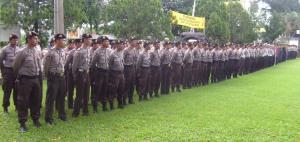 Pelaksanaan Apel Pagi Per Satgas dalam rangka kesiapan Pemilu 2009