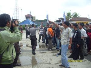 Latihan hari kedua Simulasi Pam Kampanye Capres di Lap Pandapa Paramartha Kuningan