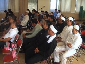 Para Tokoh Agama yang hadir dalam rangka Silaturahim di Aula Serbaguna Mapolres Kuningan