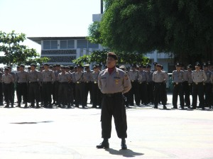 Pasukan Upacara Gelar Ops Mantap Brata 2008