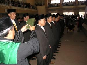 Pengambilan sumpah janji anggota dewan terpilih untuk DPRD Kab. Kuningan periode 2009-2014