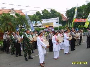Tim Rampak Genjring Kolaborasi Polres Kuningan, Kodim 0615 dan Pemuda Kuningan